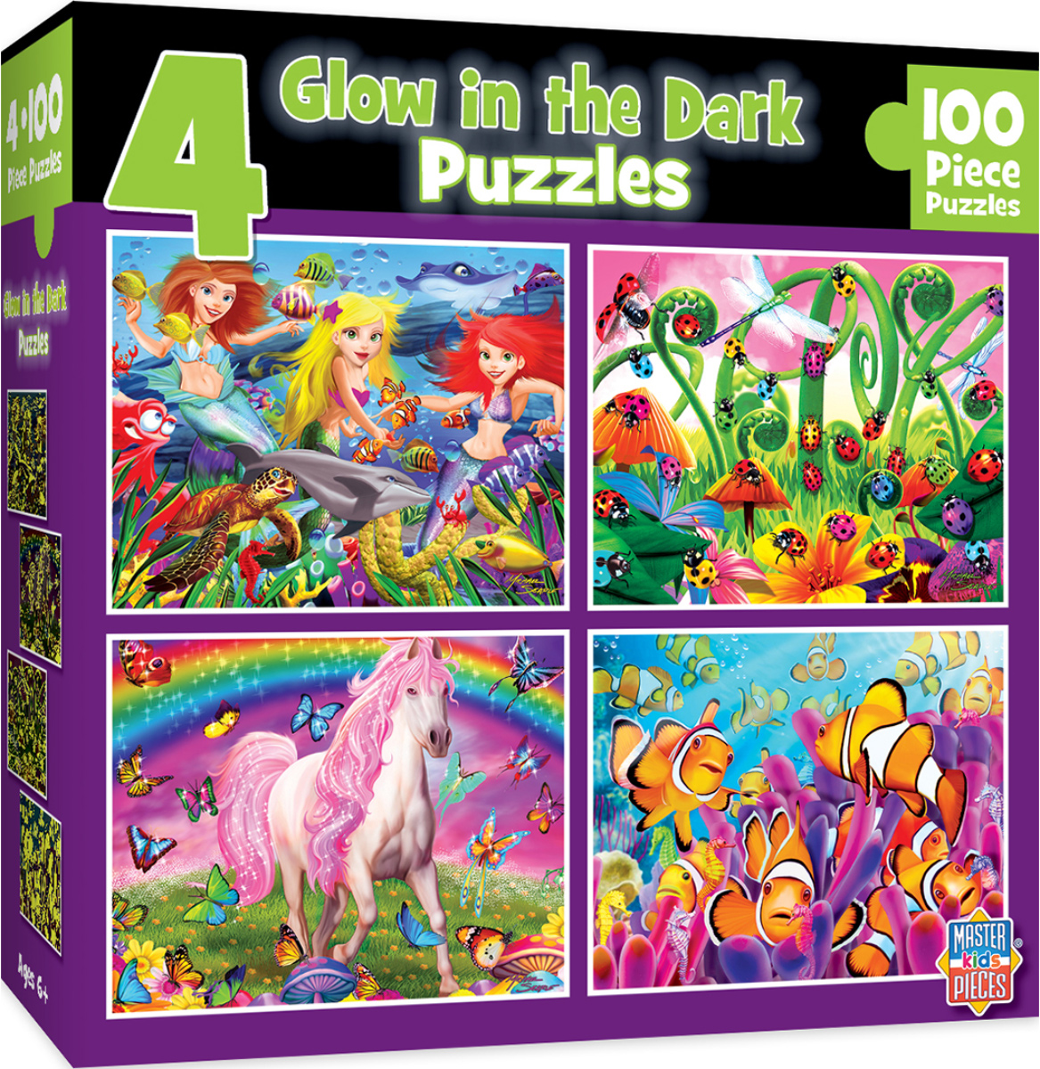 Glow in the Dark Purple Under The Sea Jigsaw Puzzle