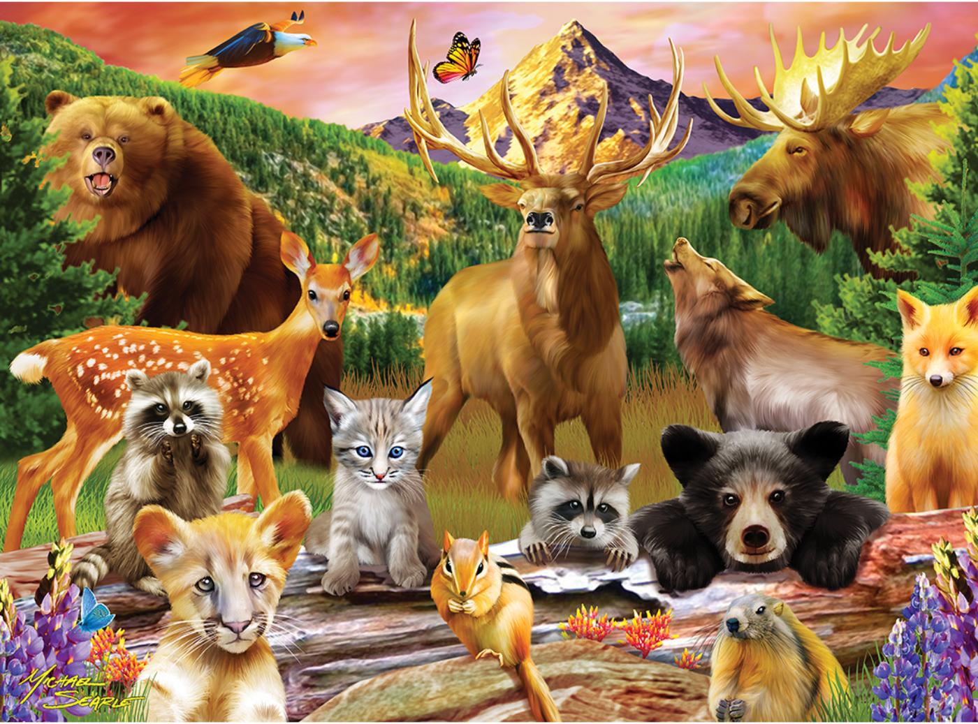Wildlife of the National Parks Wildlife Jigsaw Puzzle