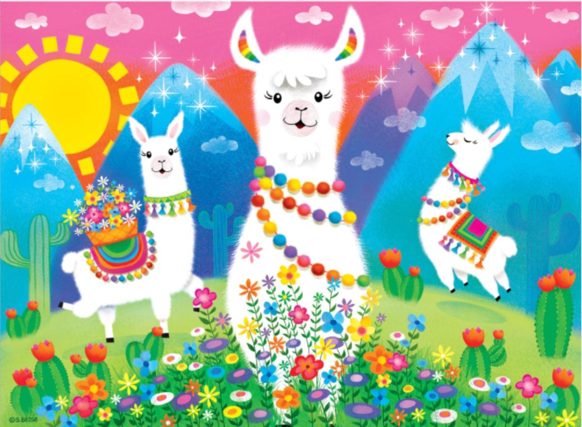 Llama Love Animals Jigsaw Puzzle