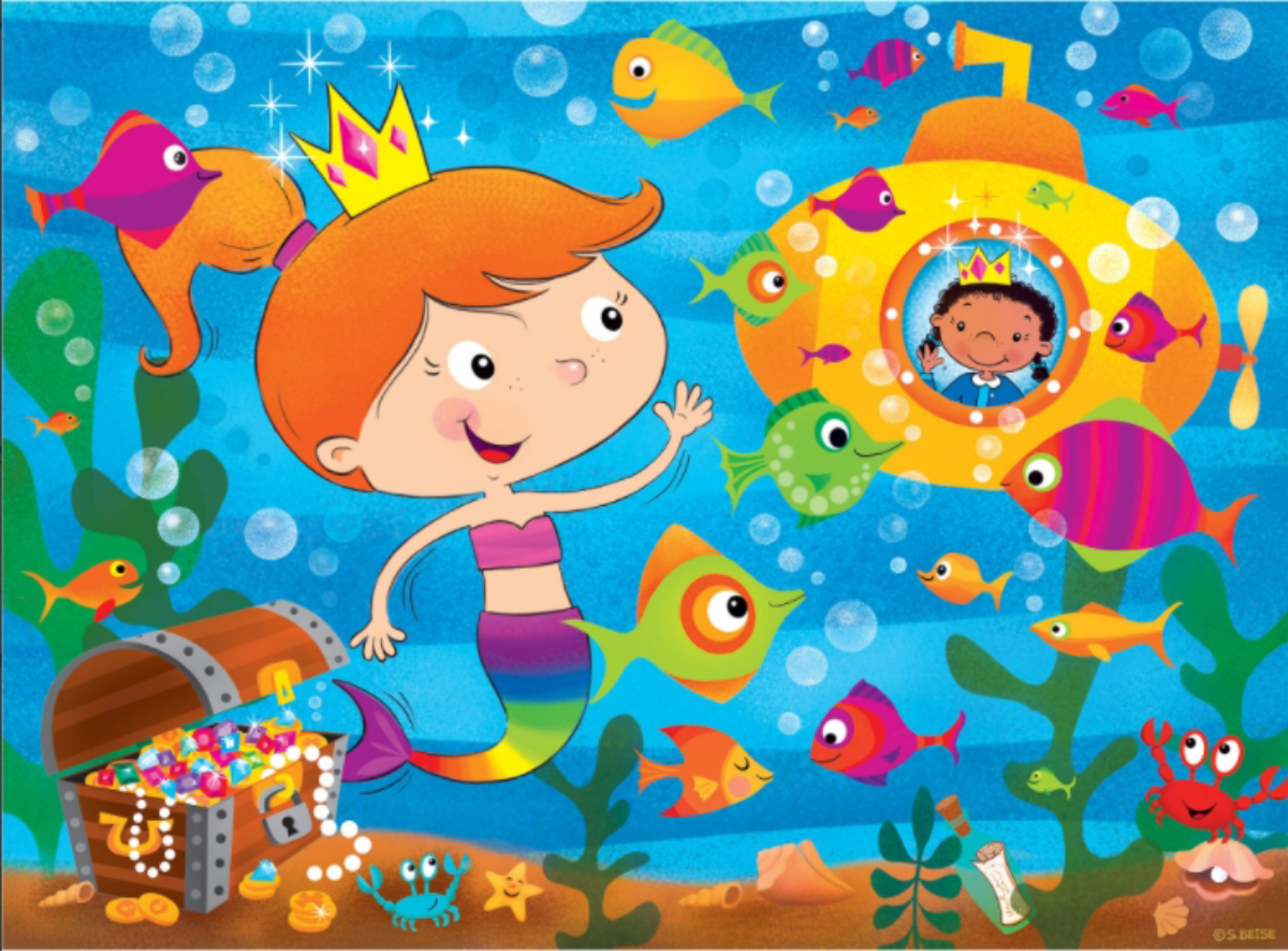Mermaid Tale Under The Sea Jigsaw Puzzle