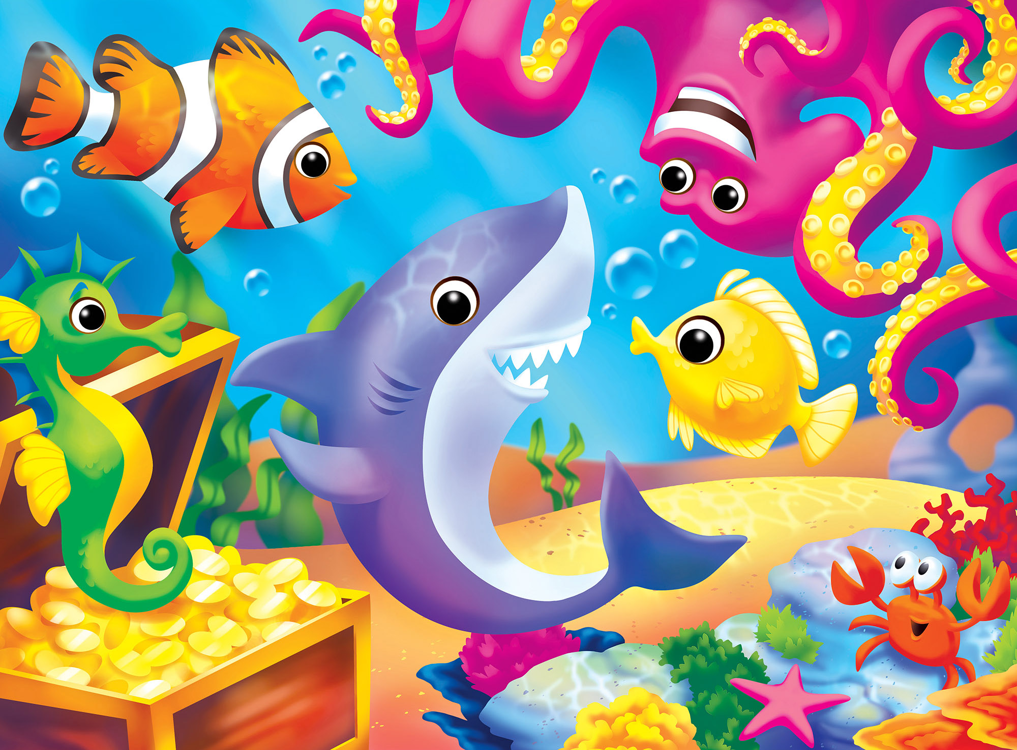Lil Shark Under The Sea Jigsaw Puzzle