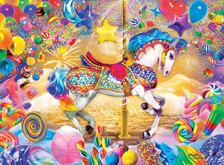 Carousel Dream Horses Glow in the Dark Puzzle