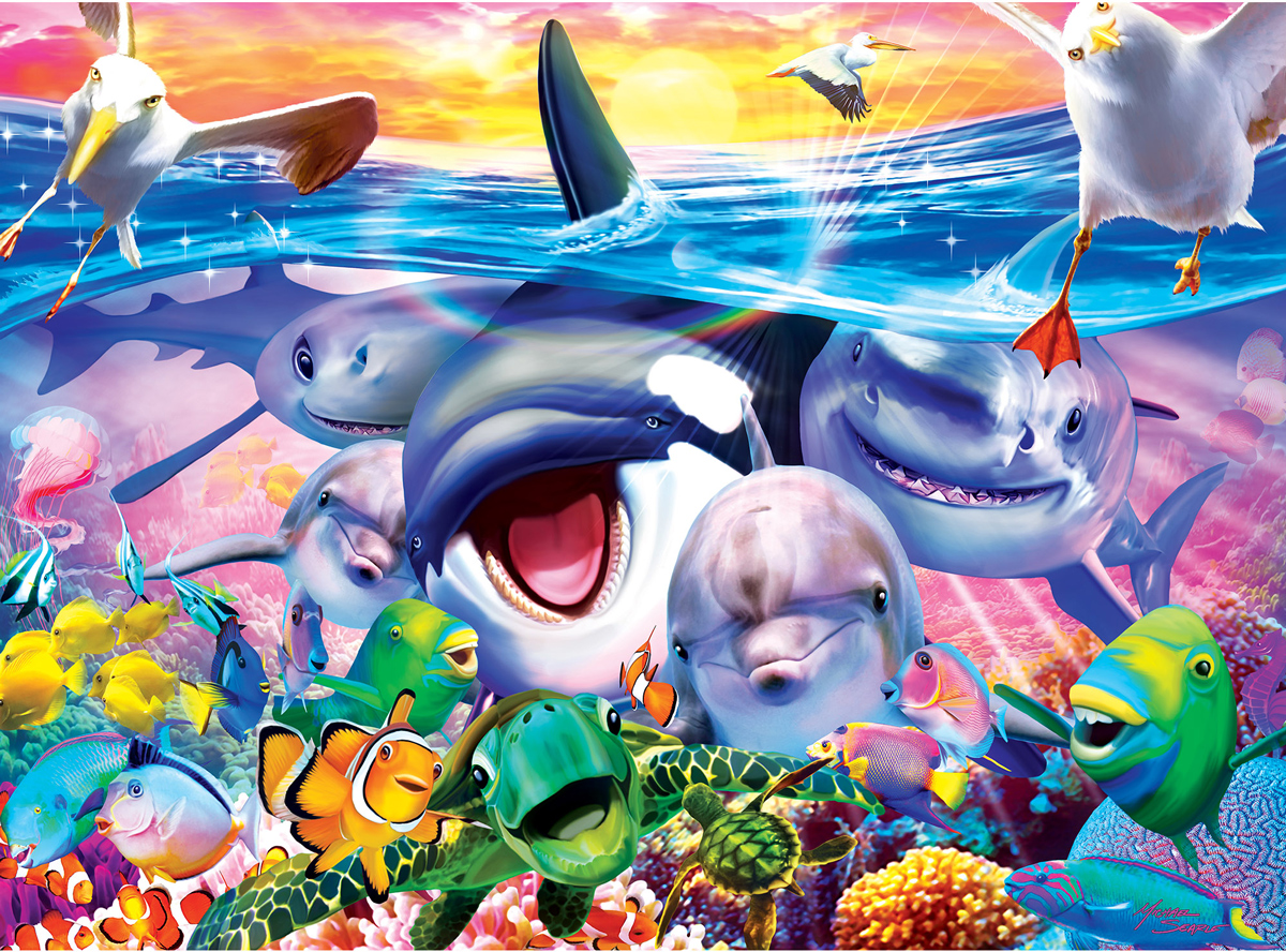 Wild Waves Under The Sea Jigsaw Puzzle