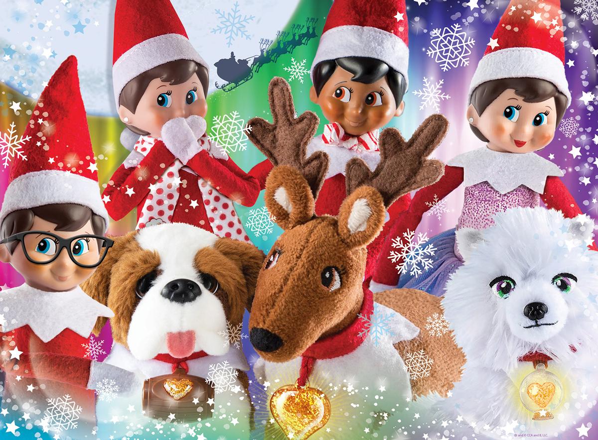 Elf on the Shelf Friends Furever Christmas Jigsaw Puzzle