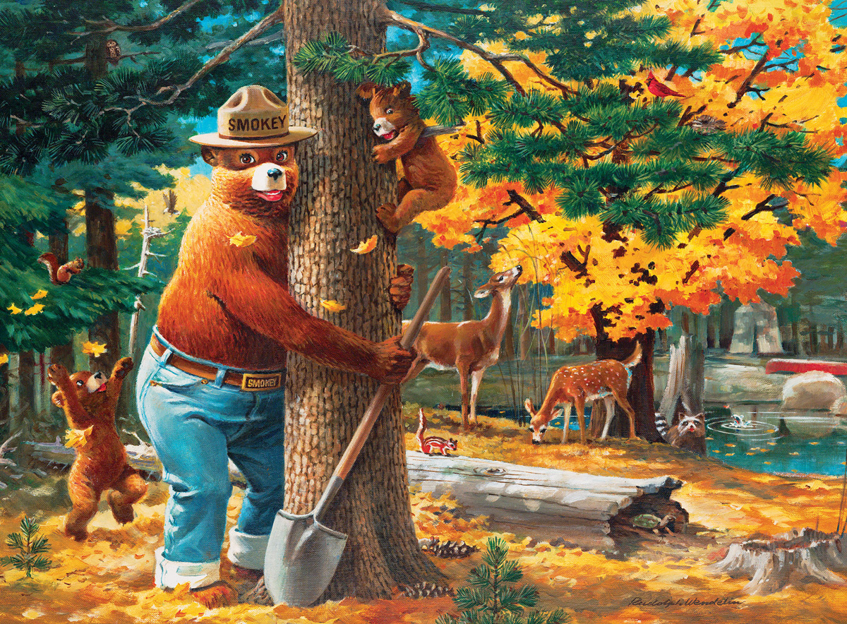 Smokey Bear Forest Jigsaw Puzzle