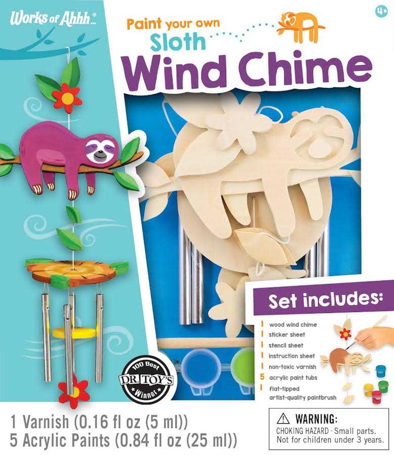 Paint your Own Sloth Wind Chime