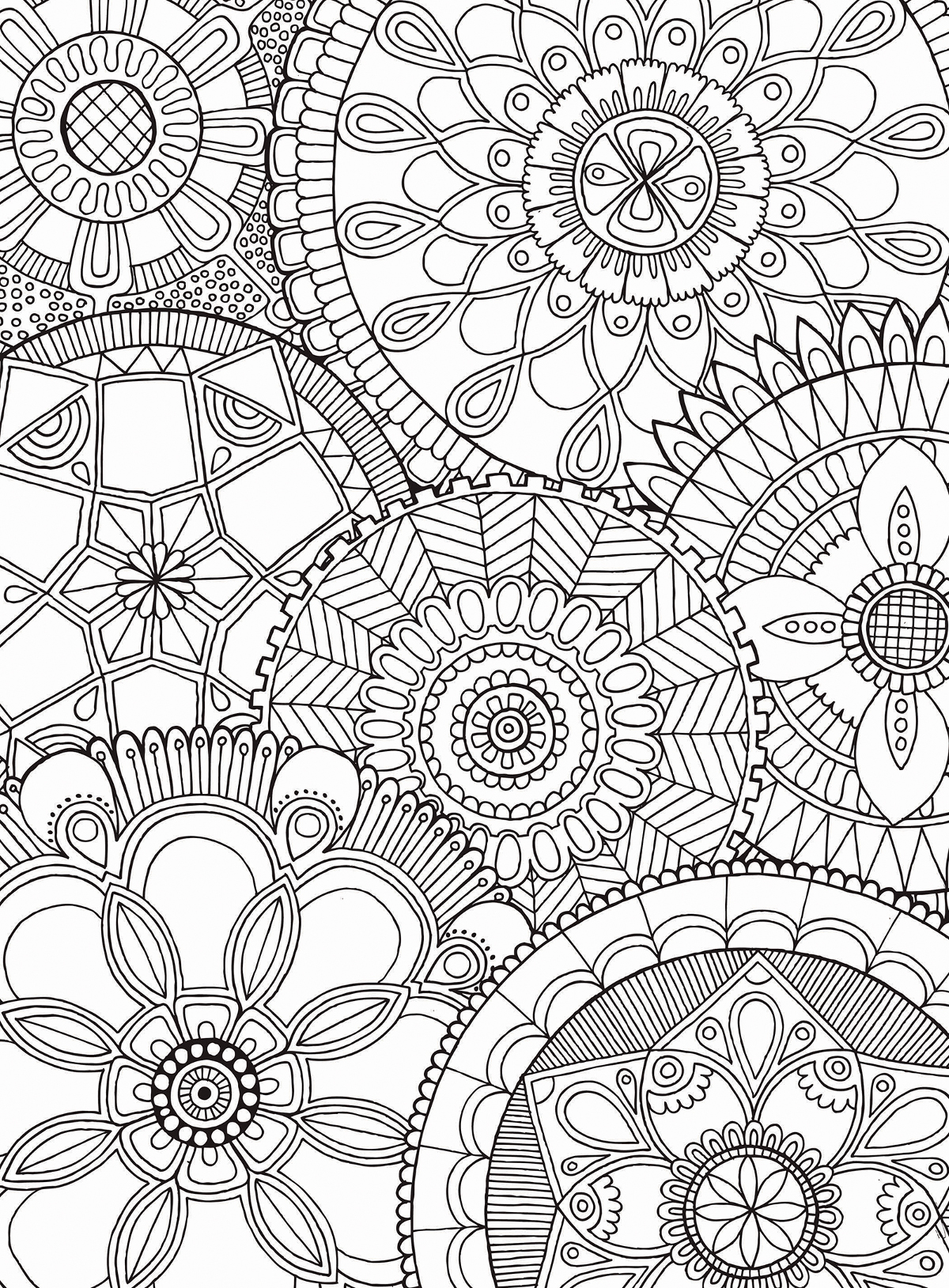 Mandala collage jigsaw puzzle - Coloriage puzzle ...
