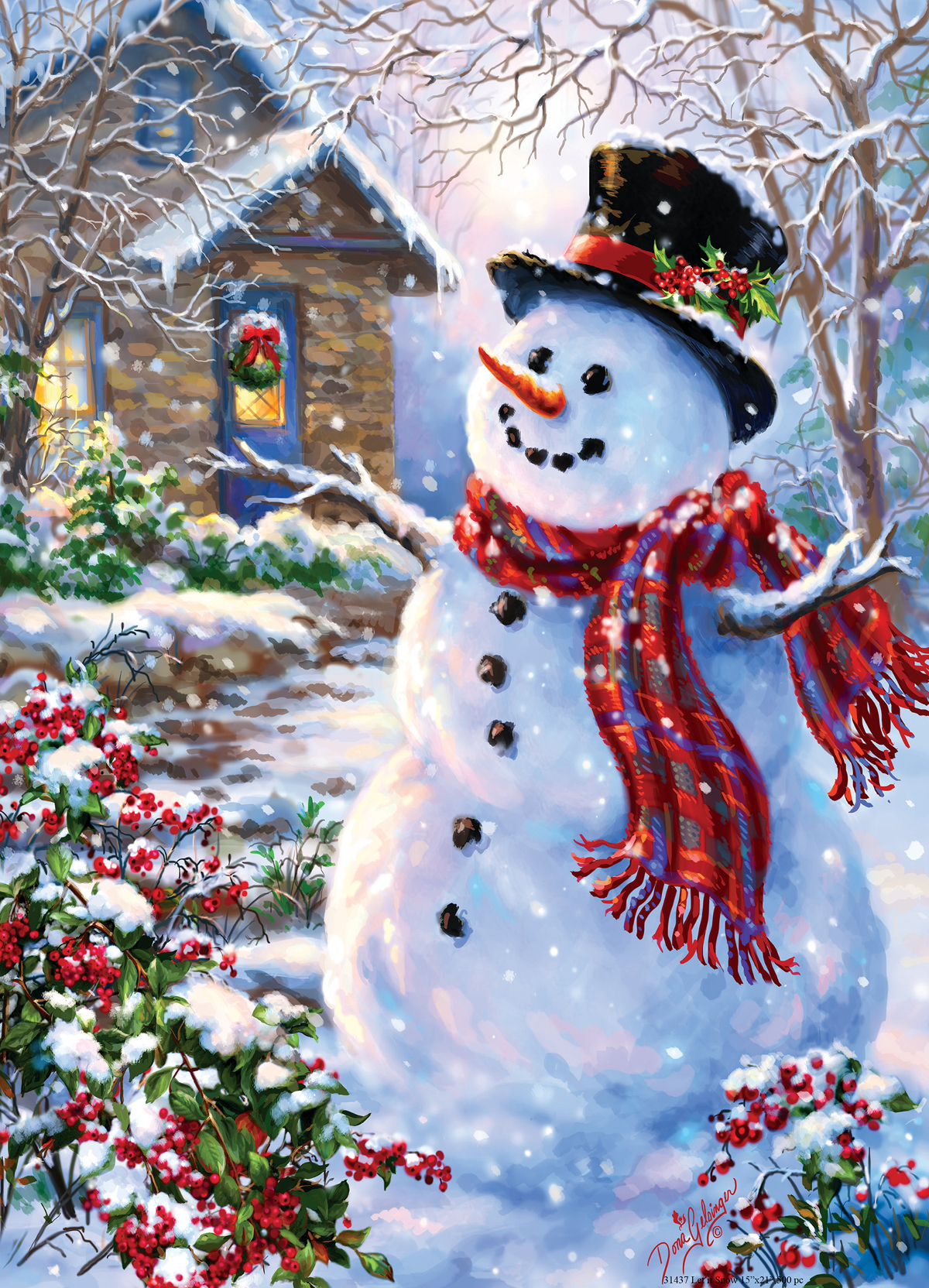 Let It Snow Holiday Glitter Jigsaw Puzzle