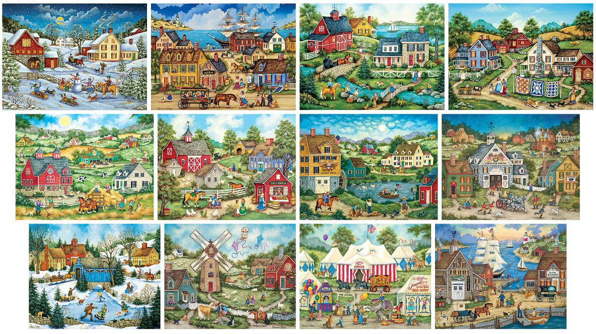 Bonnie White Bundle - Scratch and Dent Countryside Jigsaw Puzzle