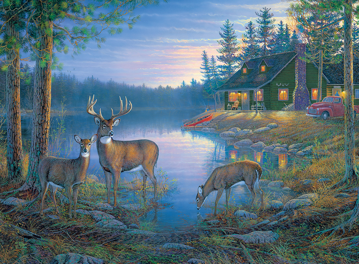 Secluded Lake Jigsaw Puzzle Puzzlewarehouse Com