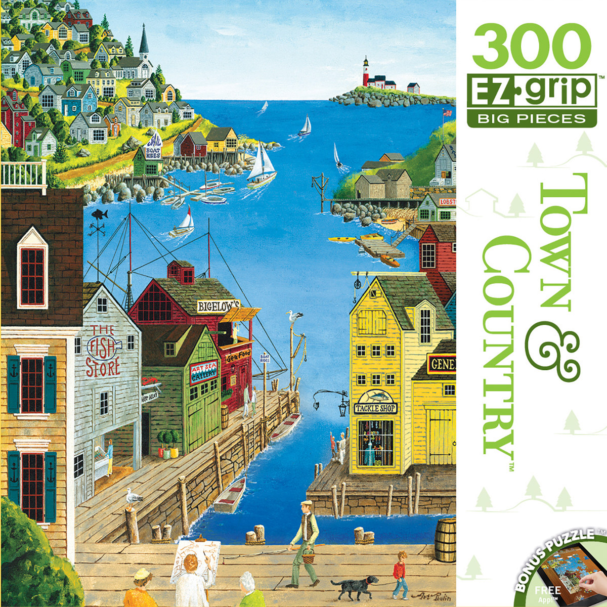 A Walk on the Pier Boats Jigsaw Puzzle
