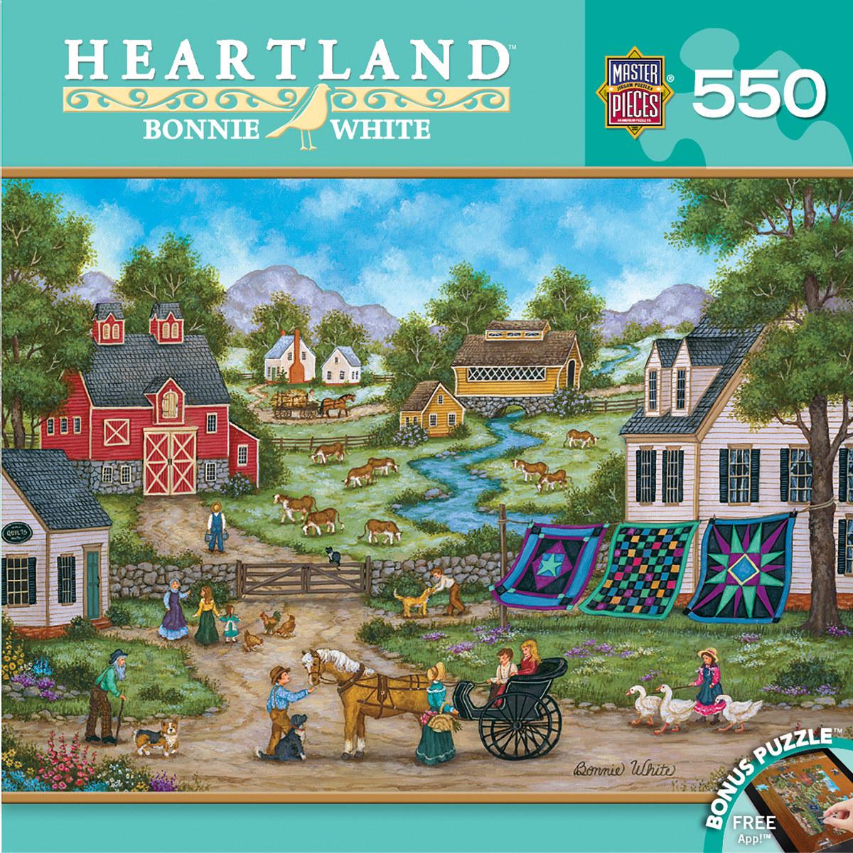Roadside Gossip Countryside Jigsaw Puzzle