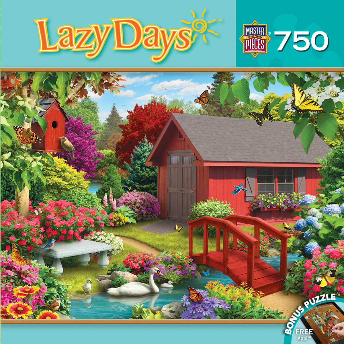 Over the Bridge (Lazy Days) Birds Jigsaw Puzzle