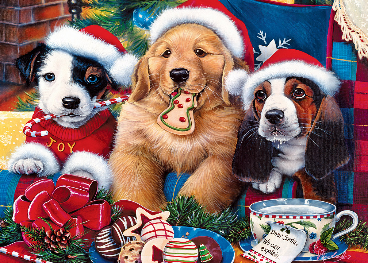 Santa Paws Dogs Jigsaw Puzzle