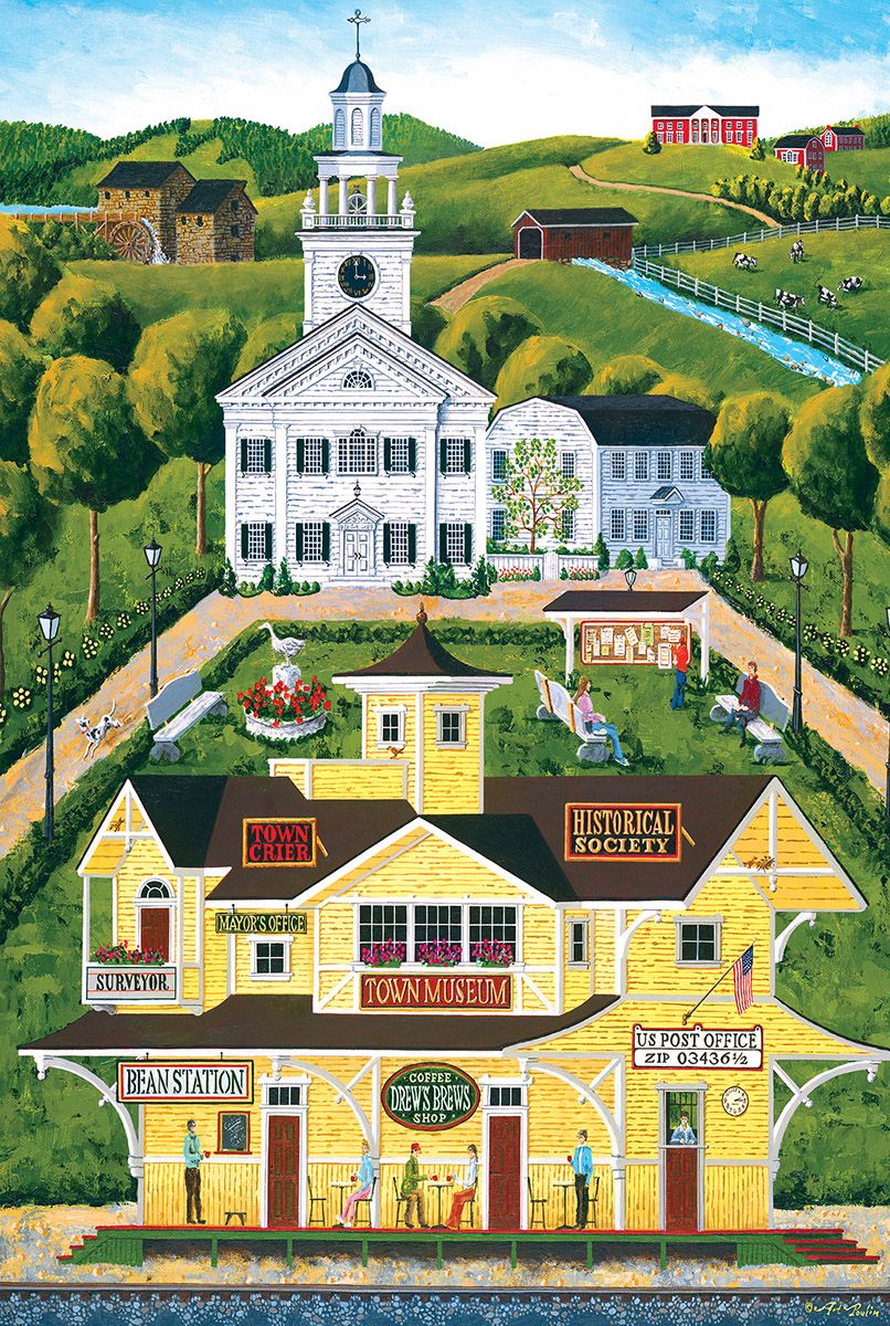 Bean Station Depot (Mini) Americana & Folk Art Jigsaw Puzzle