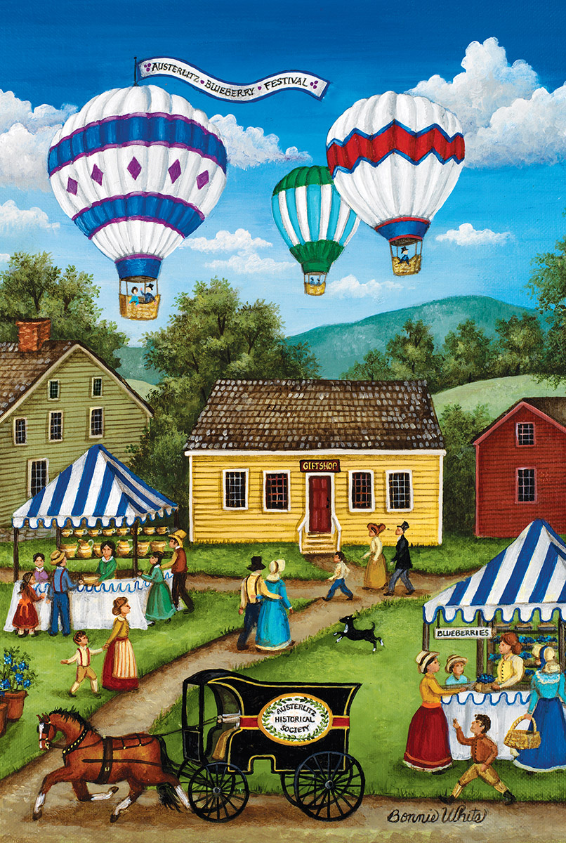 Blueberry Festival Balloons Jigsaw Puzzle