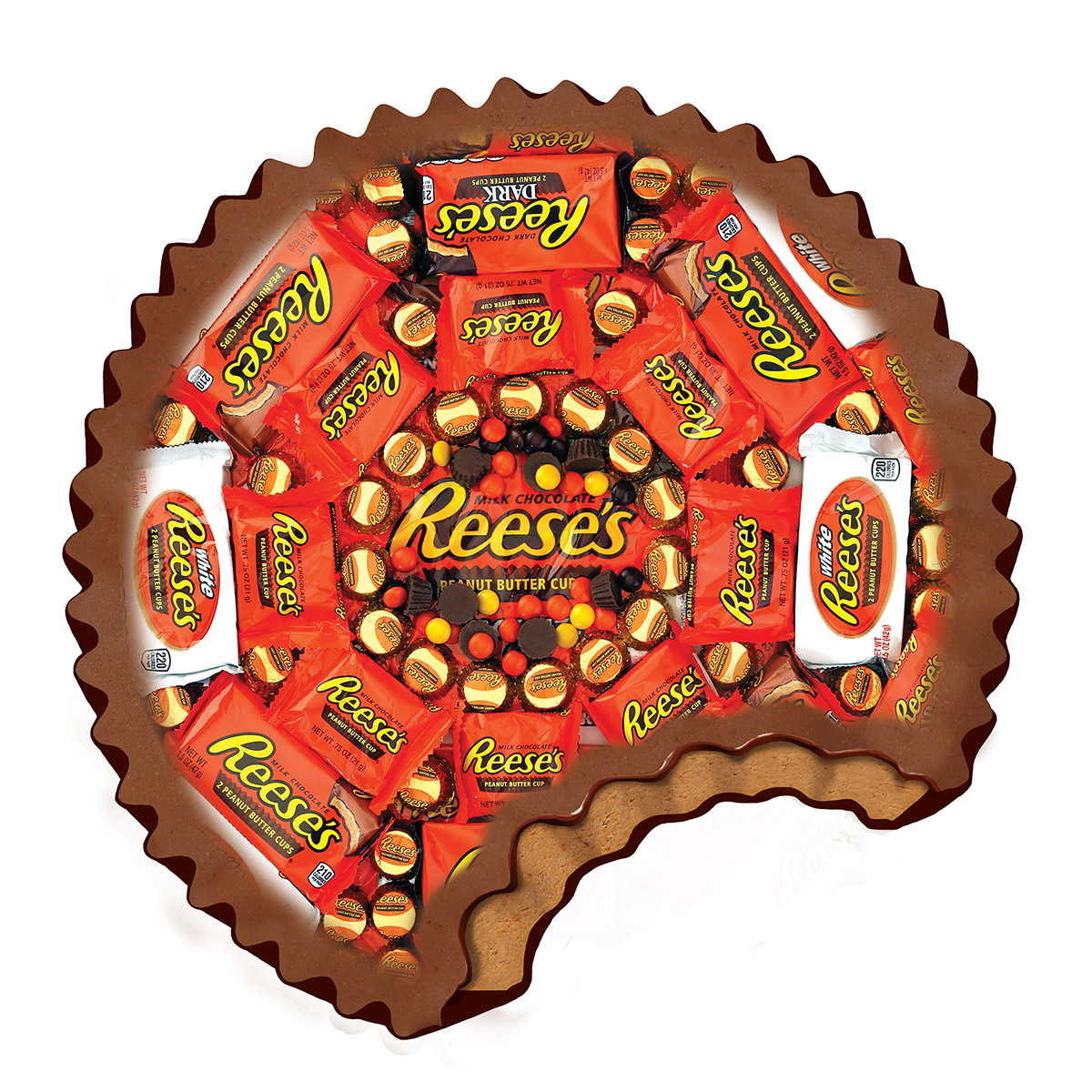 Shaped Reeses Food and Drink Jigsaw Puzzle