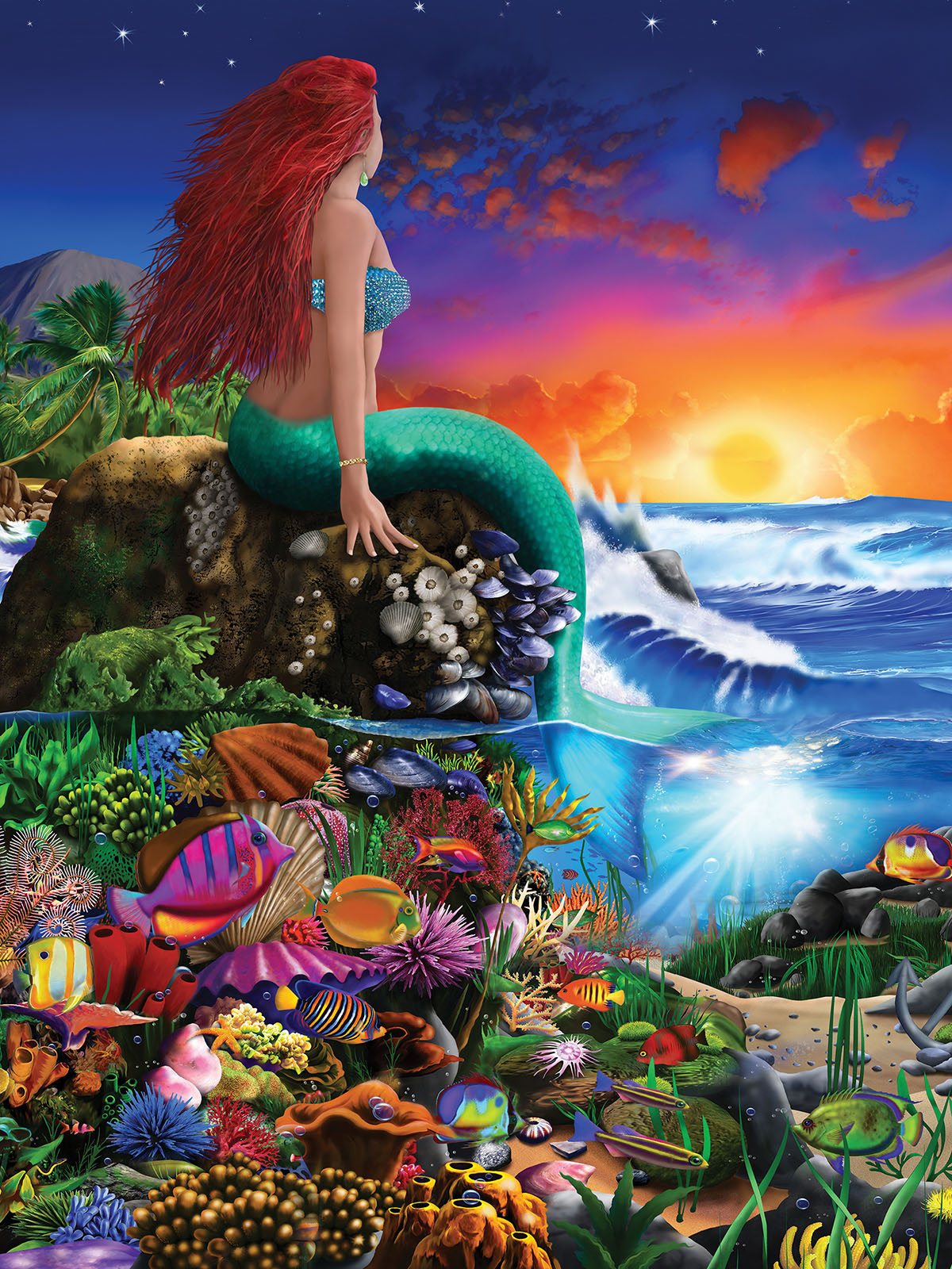 Little Mermaid Mermaids Jigsaw Puzzle