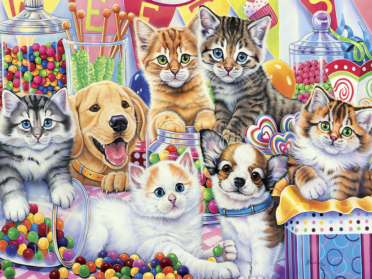Sweet Things Cats Jigsaw Puzzle