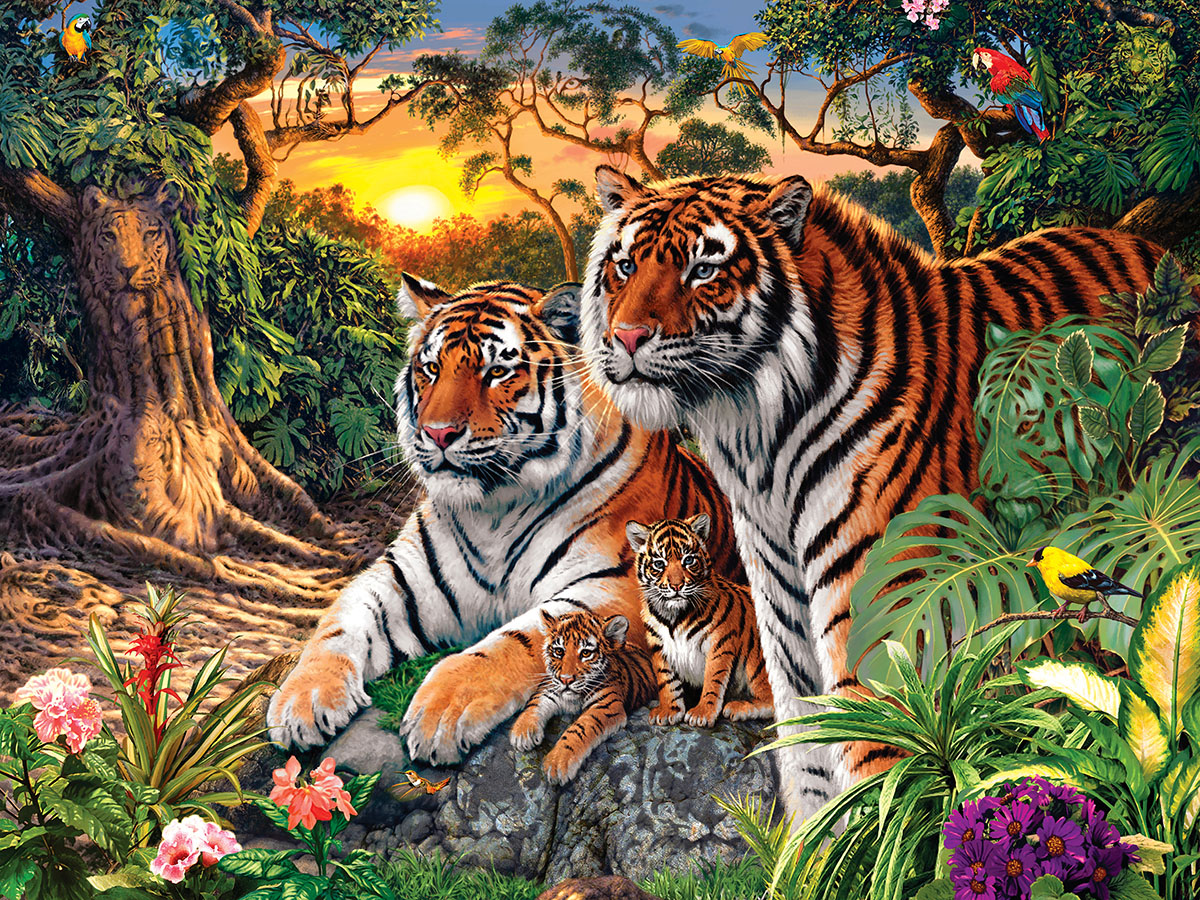 Jungle Pride Tigers Hidden Images