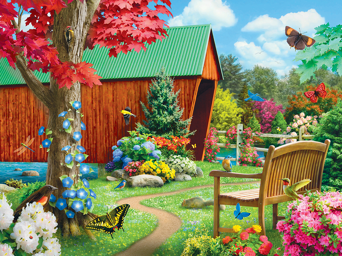 Bridge of Hope Spring Jigsaw Puzzle