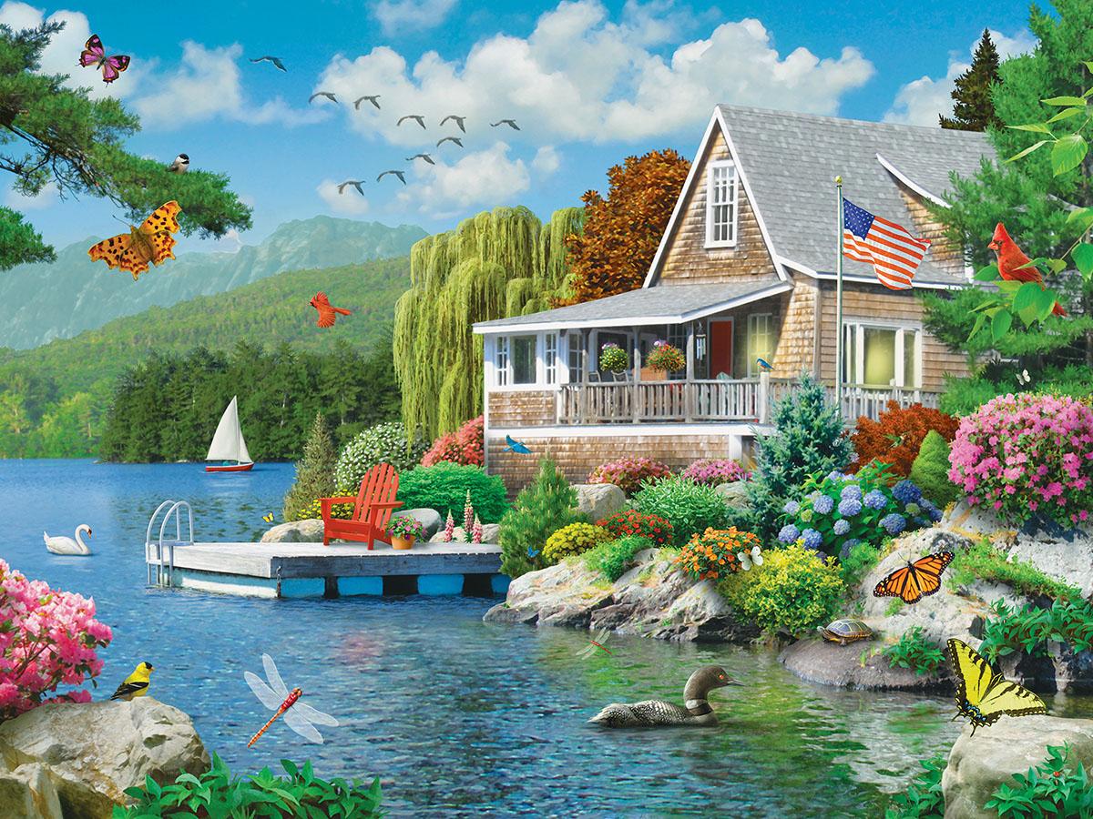 Lakeside Memories (Memory Lane) Summer Jigsaw Puzzle