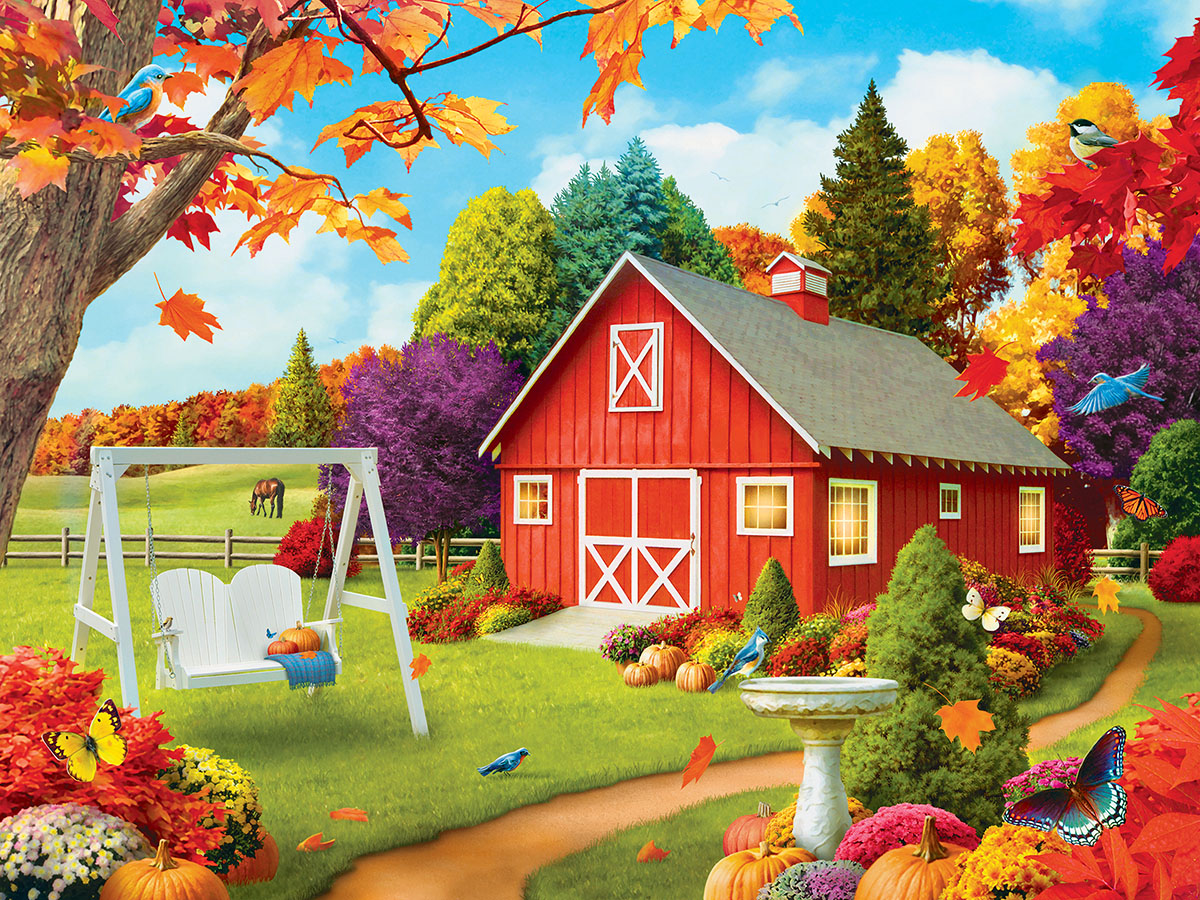 Harvest Breeze (Memory Lane) - Scratch and Dent Farm Jigsaw Puzzle