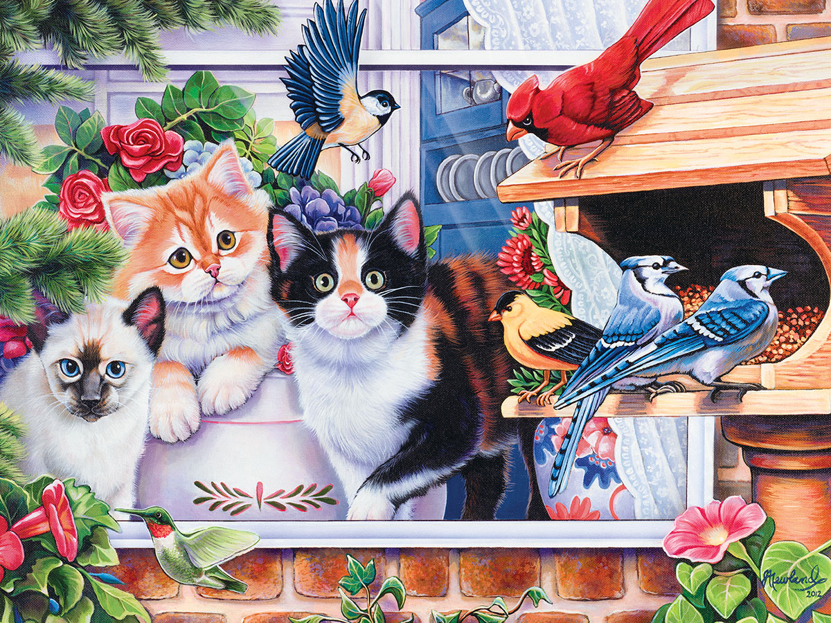 Springtime Wonders (Family Hour) Cats Jigsaw Puzzle