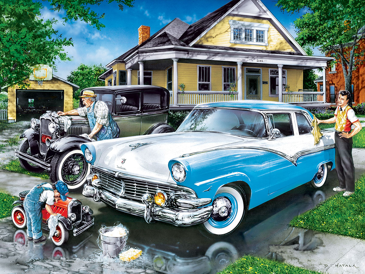 Three Generations (Family Hour) Vehicles Jigsaw Puzzle