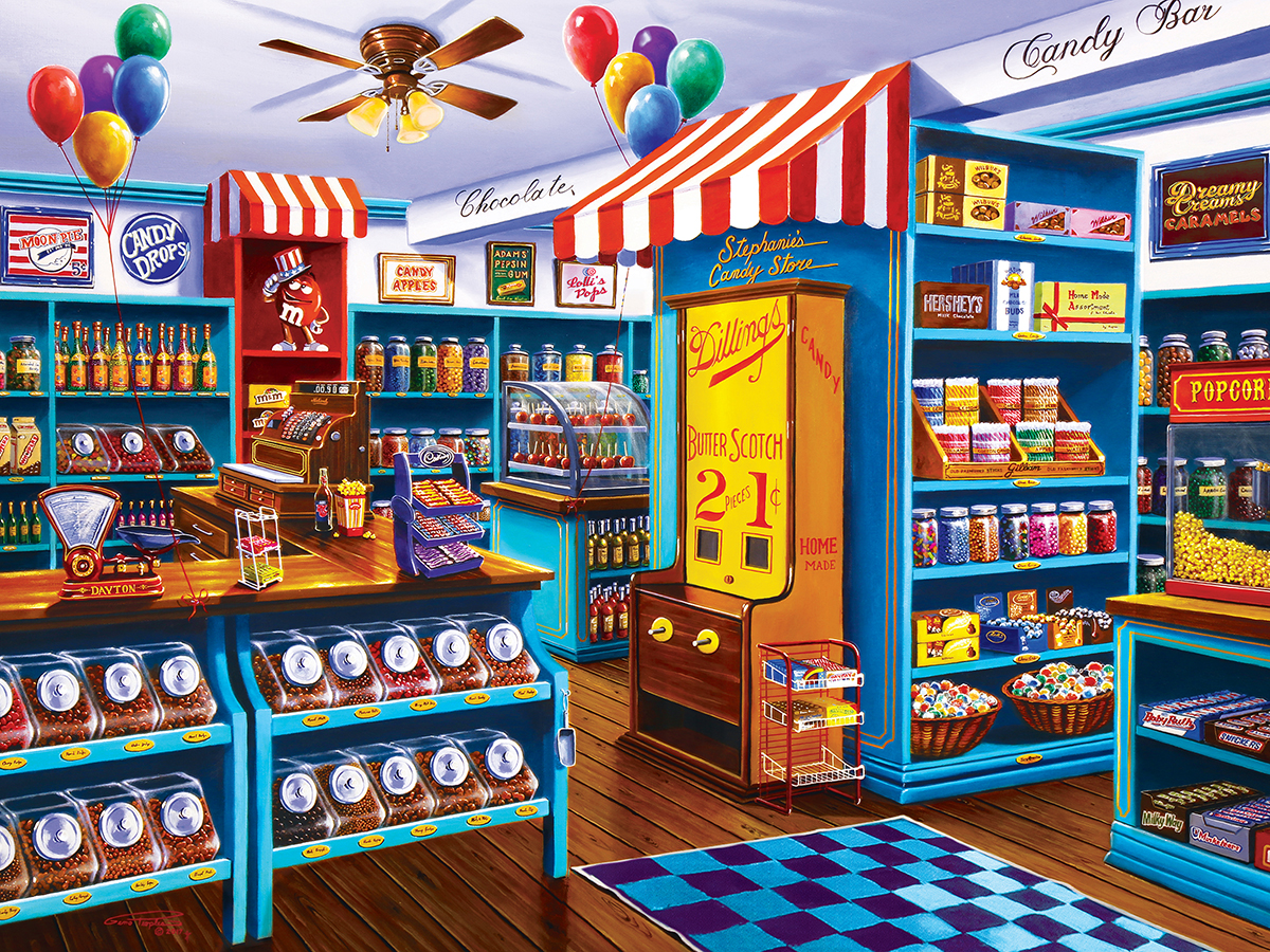 Stephanie's Candy Store (Shopkeepers) Nostalgic / Retro Jigsaw Puzzle