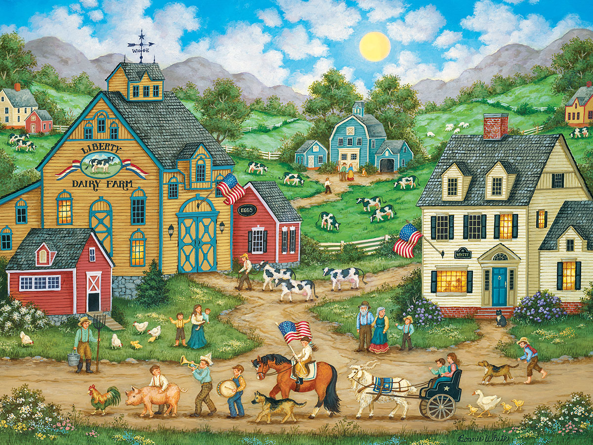 Liberty Farm Parade (Heartland Collection) - Scratch and Dent Countryside Jigsaw Puzzle