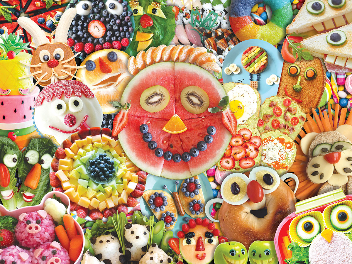Funny Face Food Food and Drink Jigsaw Puzzle