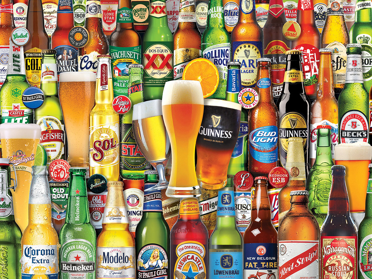 Bottoms Up Adult Beverages Jigsaw Puzzle