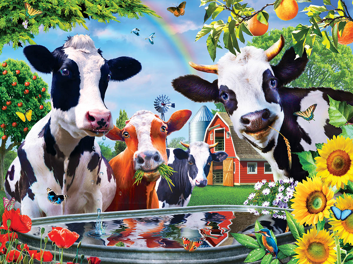 Moo Love (Green Acres) Farm Animals Jigsaw Puzzle