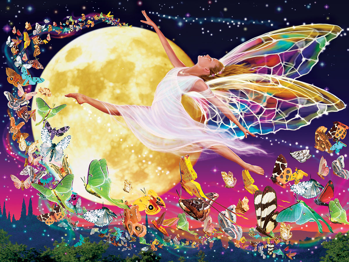 Moon Fairy Fairies Glow in the Dark Puzzle