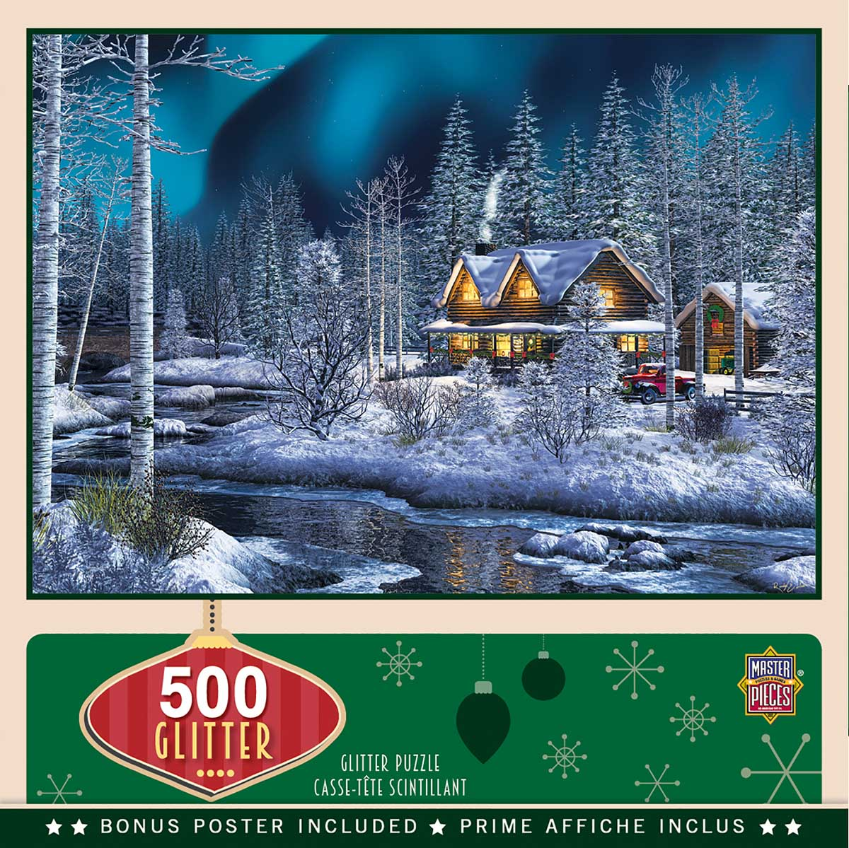 Northern Lights Winter Glitter / Shimmer / Foil Puzzles