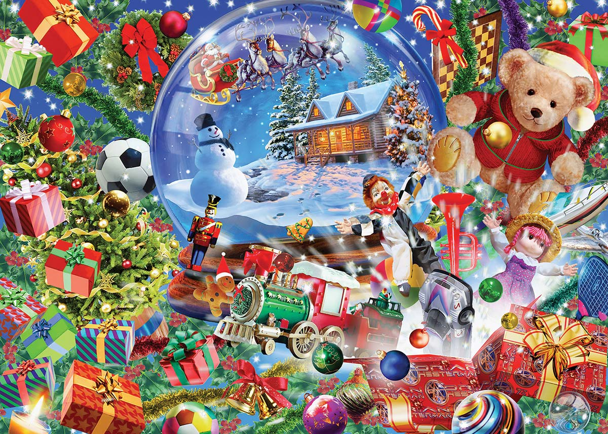Snow Globe Dreams Christmas Glitter / Shimmer / Foil Puzzles