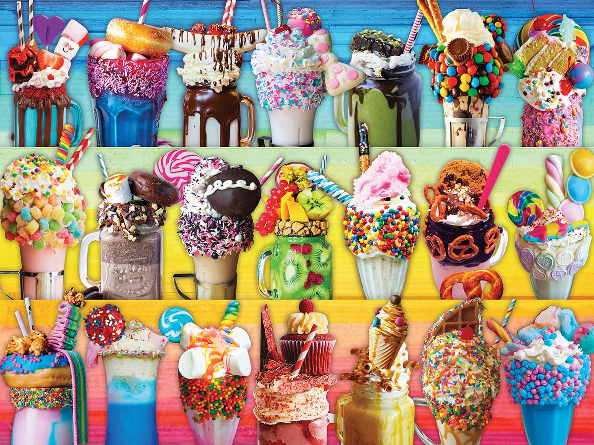 Freakshakes - Scratch and Dent Food and Drink Jigsaw Puzzle