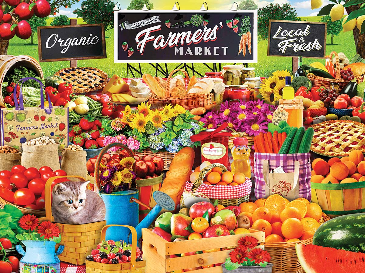 Farmers Market Food and Drink Jigsaw Puzzle