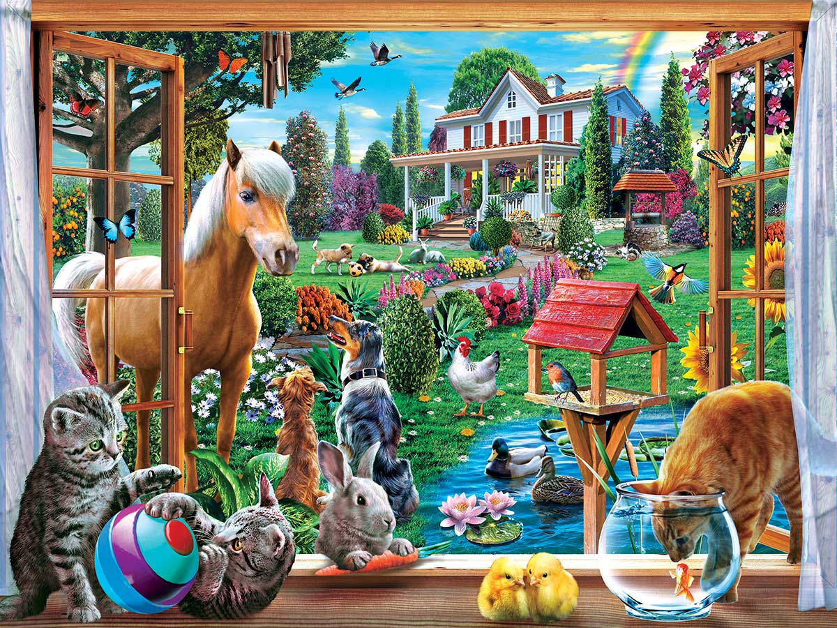 Peeking Through Animals Jigsaw Puzzle