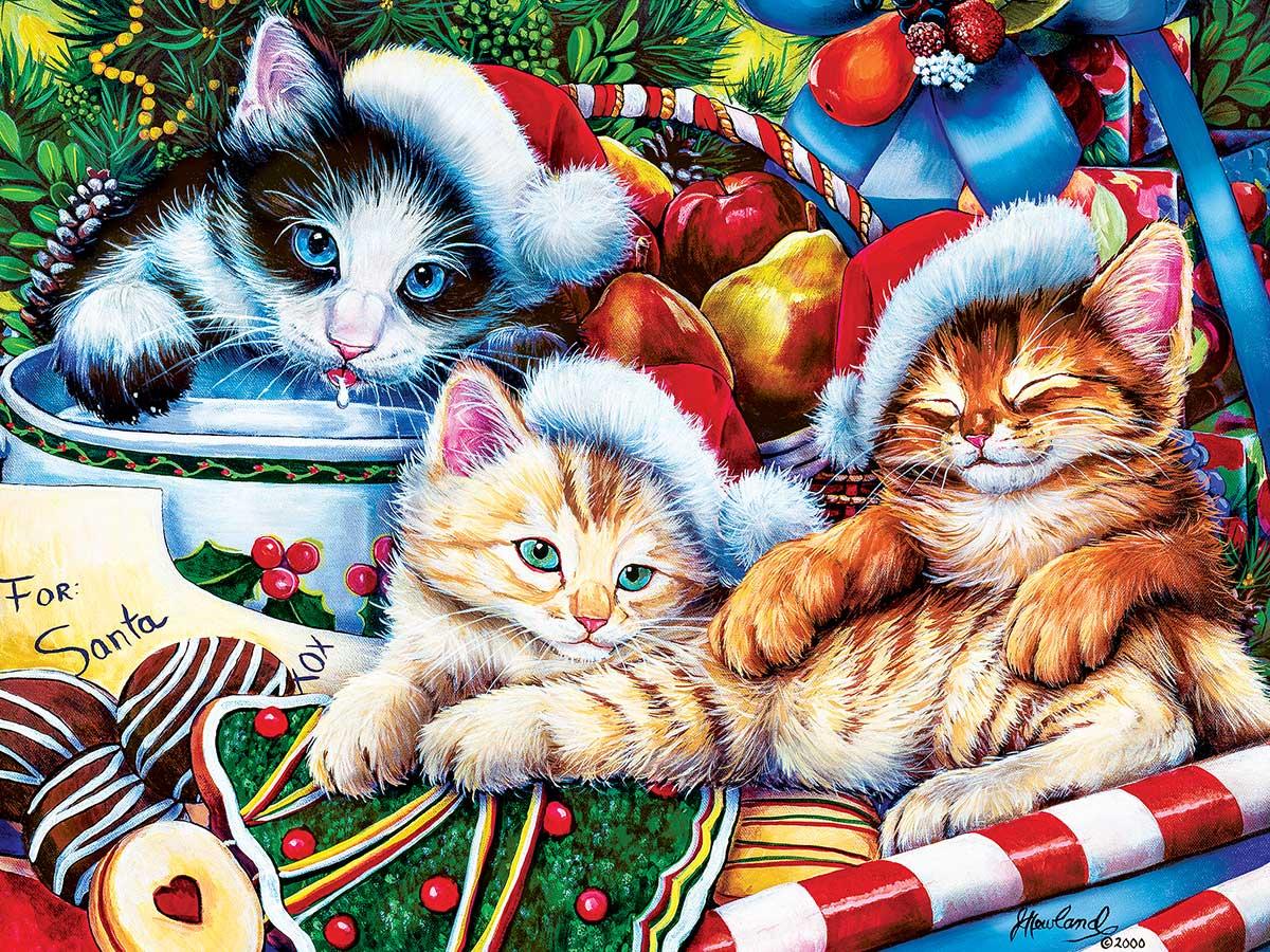 Holiday Treasures Cats Jigsaw Puzzle
