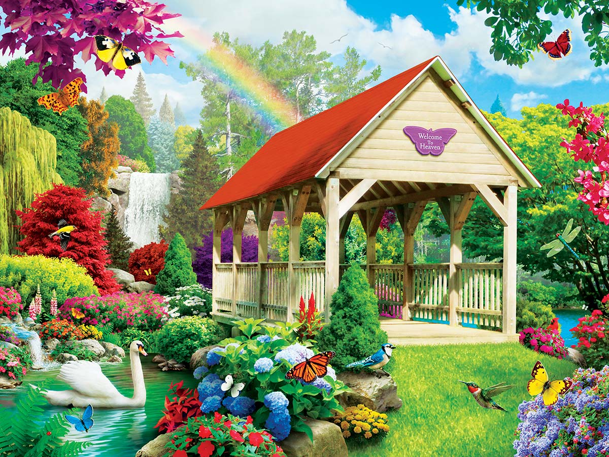 Welcome to Heaven Flowers Jigsaw Puzzle