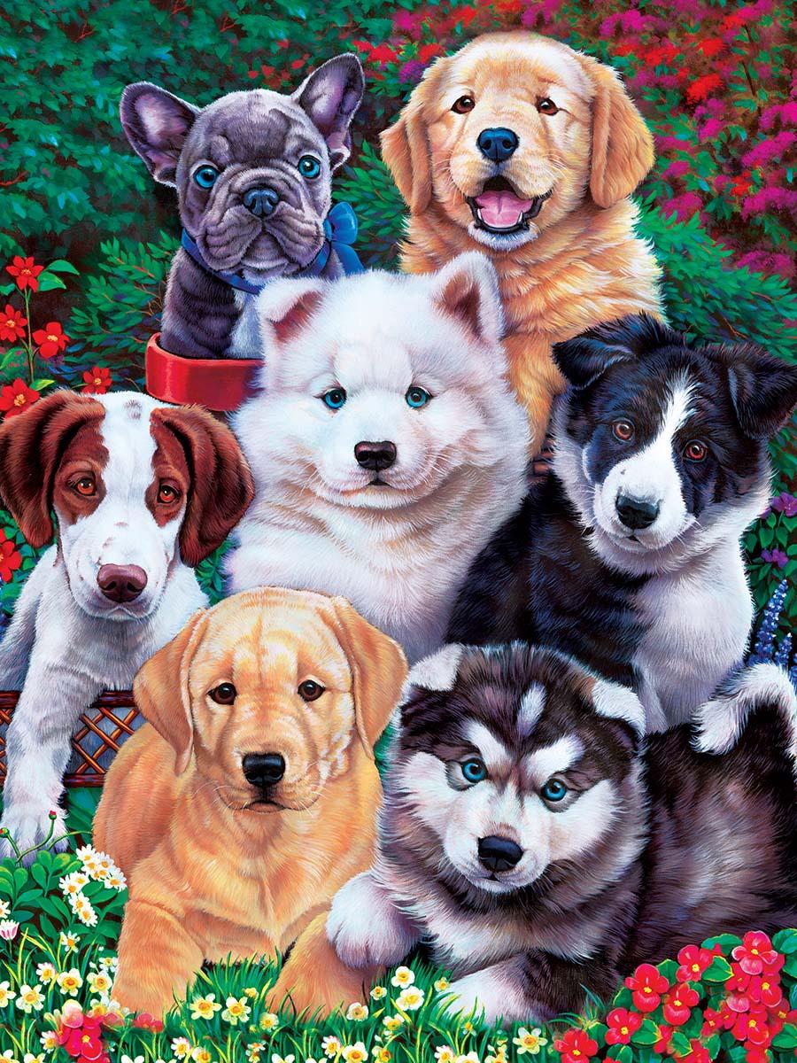 Fluffy Fuzzballs Dogs Jigsaw Puzzle