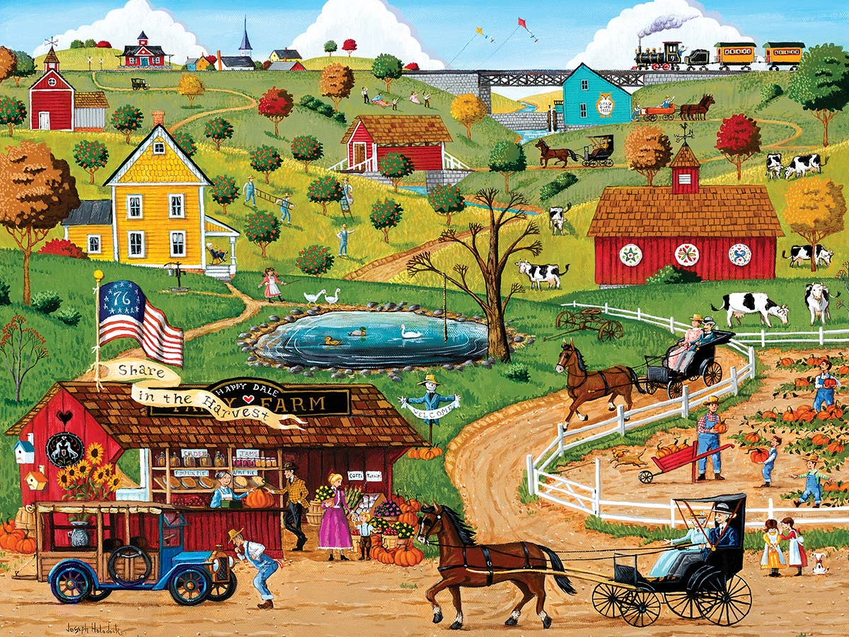 Share in the Harvest Americana & Folk Art Jigsaw Puzzle