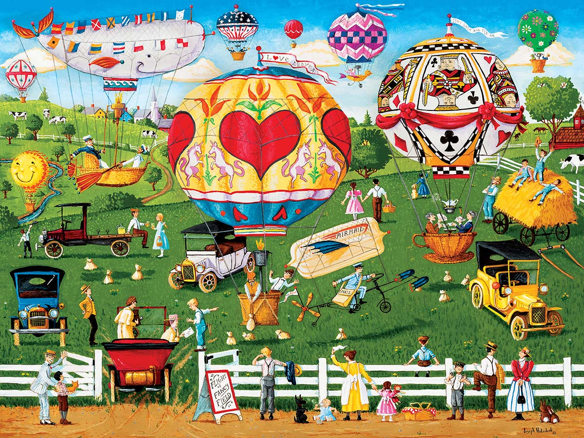 Flights of Fancy Americana & Folk Art Jigsaw Puzzle