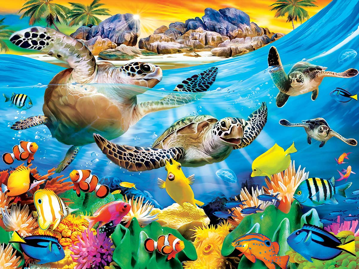 Breaking Waves Under The Sea Jigsaw Puzzle