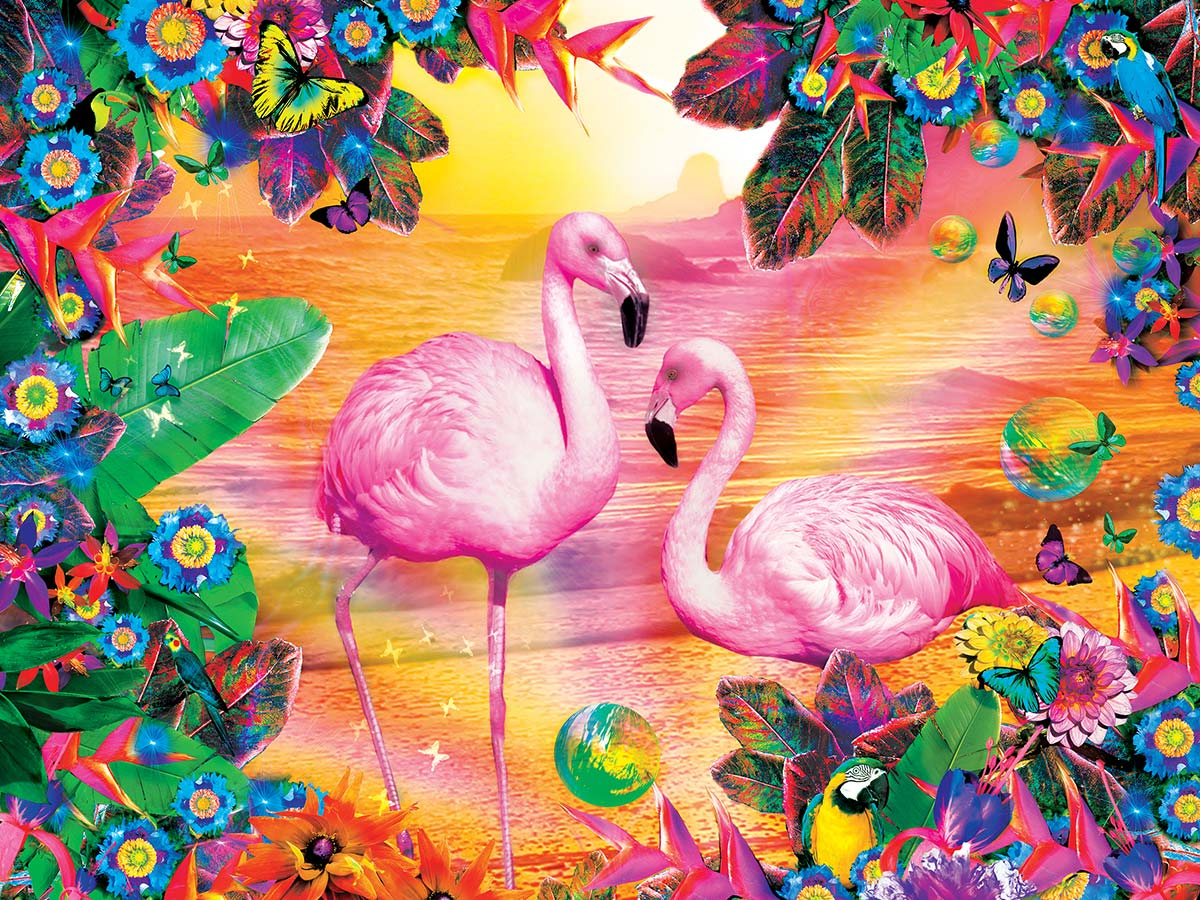 Pretty in Pink Birds Jigsaw Puzzle