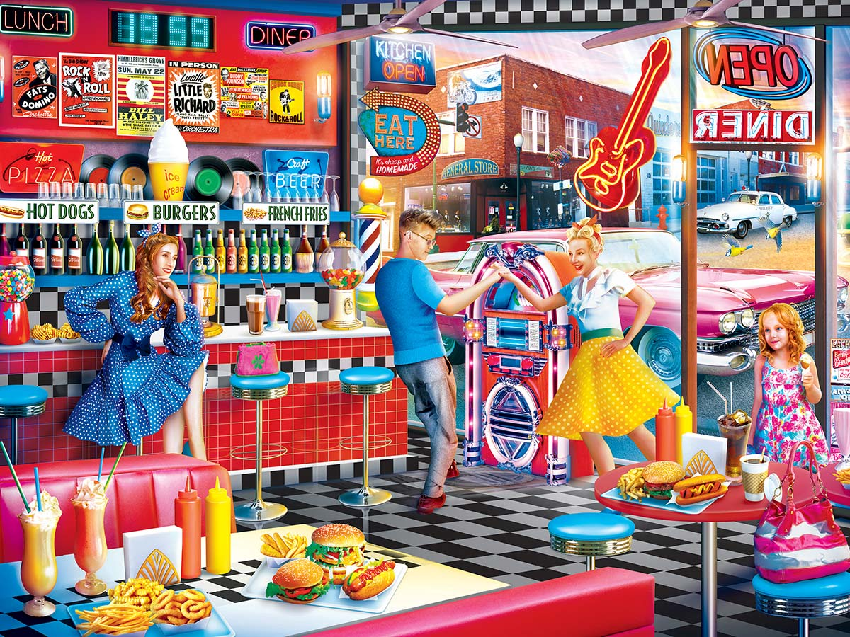 Good Times Diner Food and Drink Jigsaw Puzzle