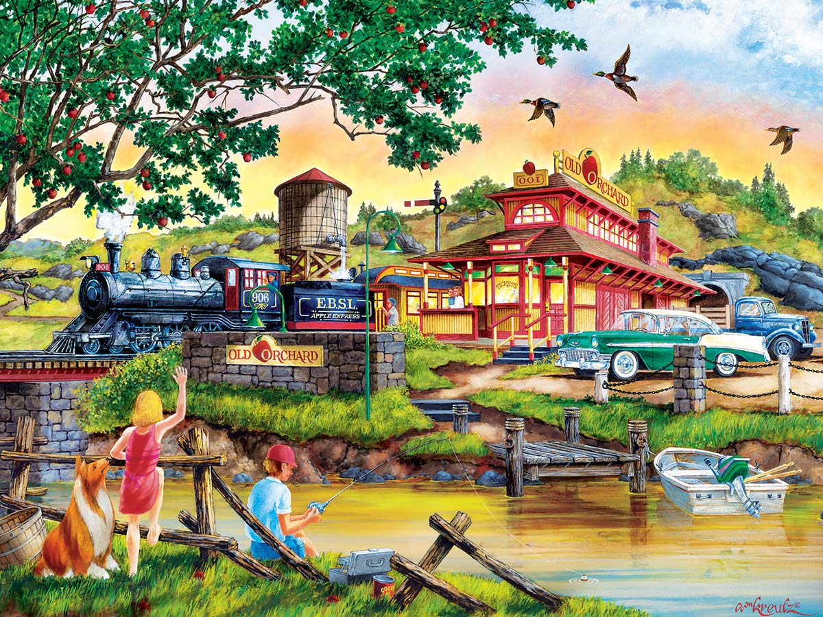 Apple Express Trains Jigsaw Puzzle