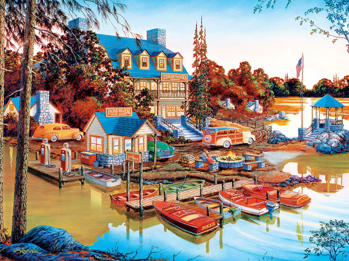 Peaceful Easy Evening Lakes / Rivers / Streams Jigsaw Puzzle